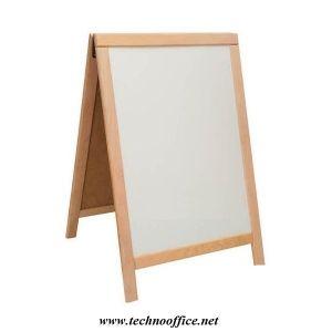 Борд меню 60х85см двустранно бяло