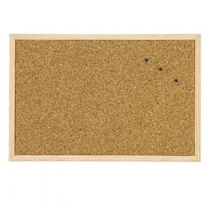 Корково табло с дървена рамка Cork Nature 40х60 cm
