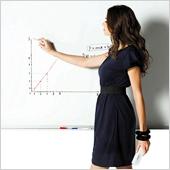 Бяло презентационно табло с алум. рамка 120х240