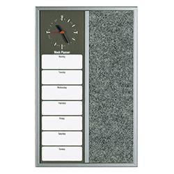 Магнитно табло за съобщения с часовник 40х60см седмичен план