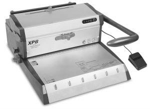 Комбинирана електрическа подвързваща машина TPPS XP6 с метални спирали 2:1 и 3:1